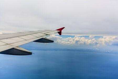 Vivid cielo nuvoloso blu
