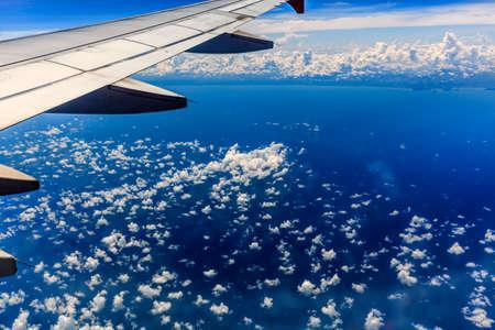 Vivid cloudy blue sky photo