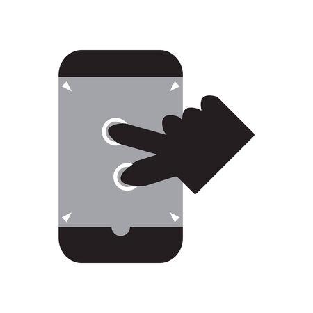 zoom in: Zoom in smart phone Illustration