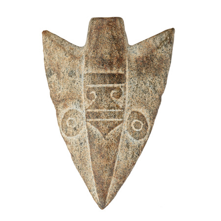 indian artifacts: Antique arrow stone