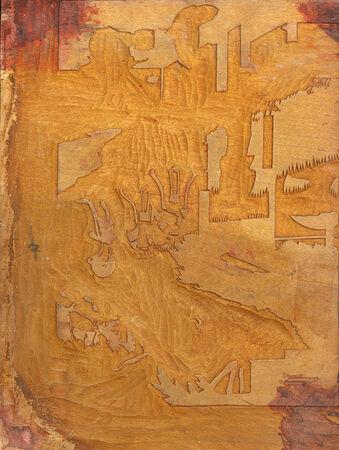 carve: Antique yellow wooden carve