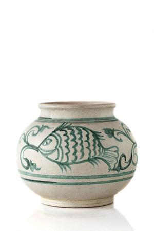 Antique ceramic bowl photo