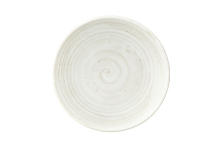 White Vintage ceramic bowl (Top view) photo