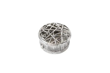 boxy: Antique silver round boxy