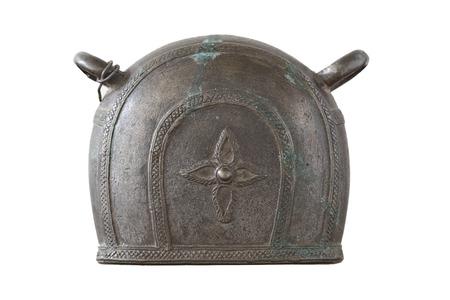 Antiuqe bufala campana isolato su sfondo bianco Archivio Fotografico