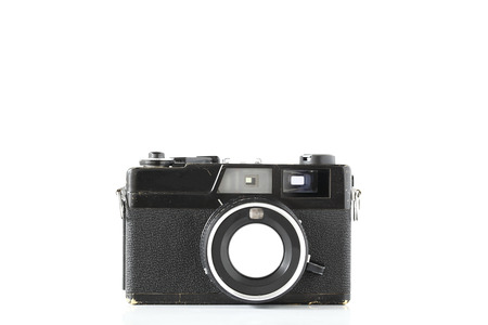 Vintage camera (Front view) photo