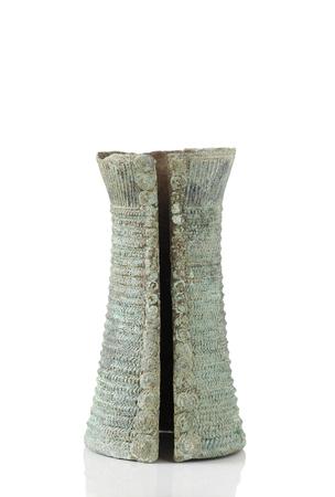 Antico bracciale di bronzo Archivio Fotografico
