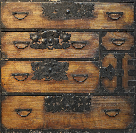 Antique wooden drawers photo
