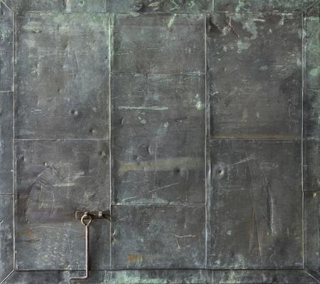Antique bronze panel photo