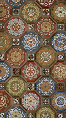 Antique japanese paper pattern photo