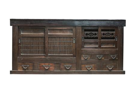 Antique cabinet isolated on white background photo