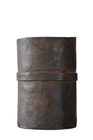 bronze bowl: Antique bronze bowl isolated on white background