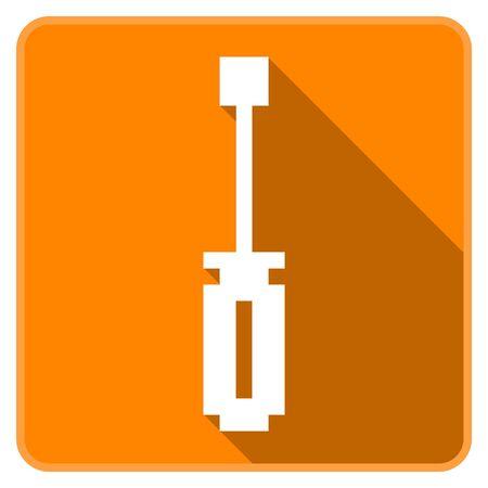 Orange screw driver icon (Pixel Art)