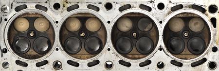 camshaft: Engine camshaft cap close up