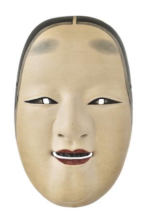 Antique japanese mask photo