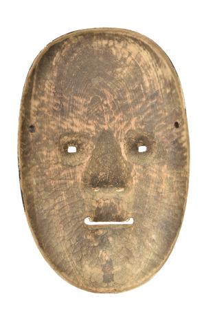 Antique japanese mask (Back side) photo