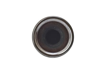 antique vase: Small antique bronze vase (Top View)
