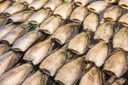 gourami: Sun-dried Snakeskin gourami Stock Photo