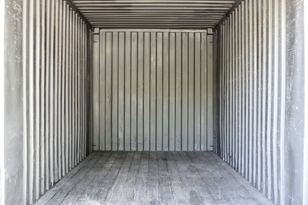 warehouse cargo: Old interior container box