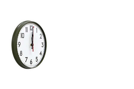 morning noon and night: Green wall clock