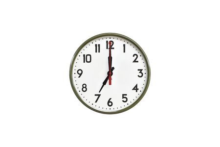 morning noon and night: Green wall clock.Seven clock