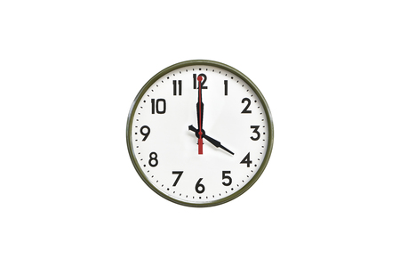 morning noon and night: Green wall clock.Four oclock
