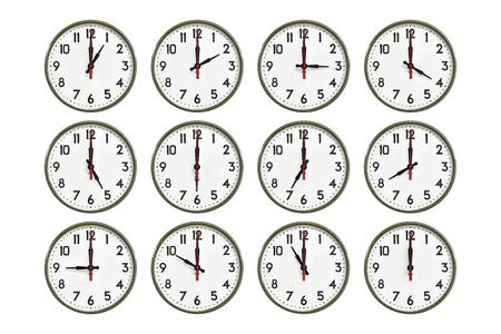 Green wall clock all day Zdjęcie Seryjne