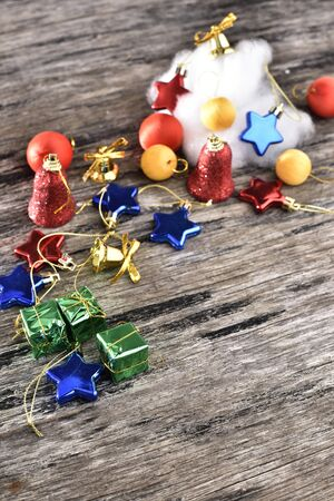 variety: Christmas decorations variety background Stock Photo