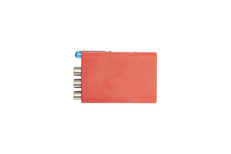 Red rubber box tool Stock Photo