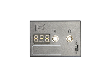 Ohmmeter to measure the resistance Stock Photo