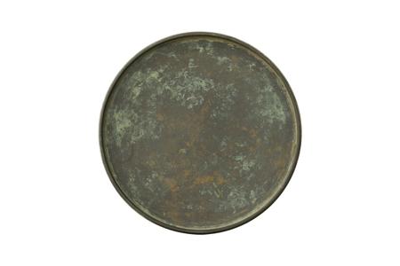 Antique bronze tray top view