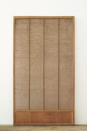 Antique japan wood screen Stock Photo