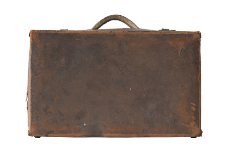 leather bag: Antique brown leather bag