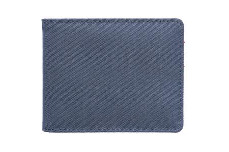 Vintage navy blue wallet on white background