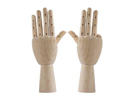 Nine sign wood hand model