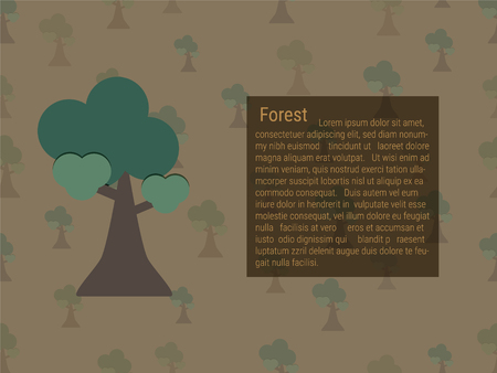 Growing forest and text box