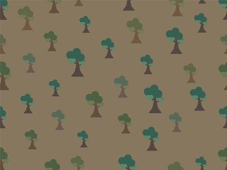 Seamless tree background pattern Illustration