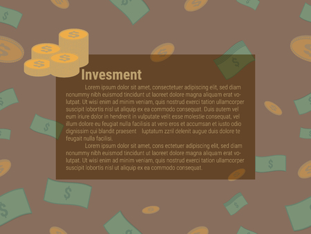 Investment board with cash and coin pattern