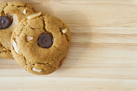 Soft cookie with almond Stock Photo