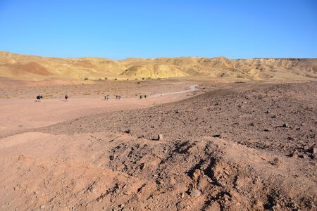 Negev Desert landscape. Way to Red Canyon in Eilat, Israel