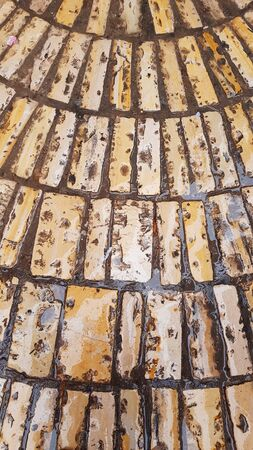 Jerusalem street detail of old stone bricks