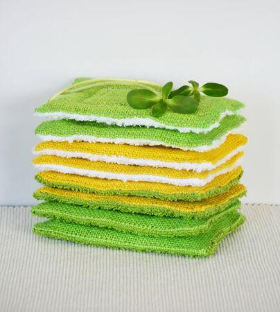 Reusable zero waste washable biodegradable kitchen dish sponges
