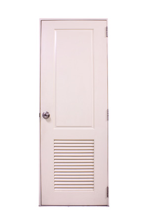 rectangular white door in the house photo
