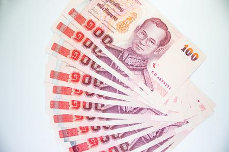 Un centinaio di baht, banconota della Thailandia isolato Archivio Fotografico - 28651042