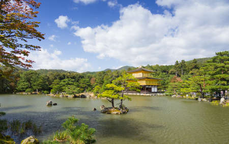two floors: Kinkakuji is a Zen temple in northern Kyoto whose top two floors are completely covered in gold leaf. Formally known as Rokuonji, the temple was the retirement villa of the shogun Ashikaga Yoshimitsu