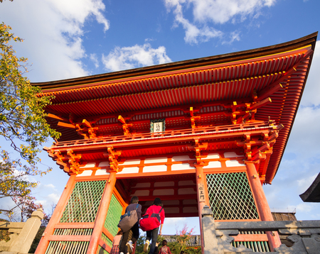 entranceway: Kiyomizu temple is an independent Buddhist temple in eastern Kyoto. The temple is part of the Historic Monuments of Ancient Kyoto (Kyoto, Uji and Otsu Cities) UNESCO World Heritage site.