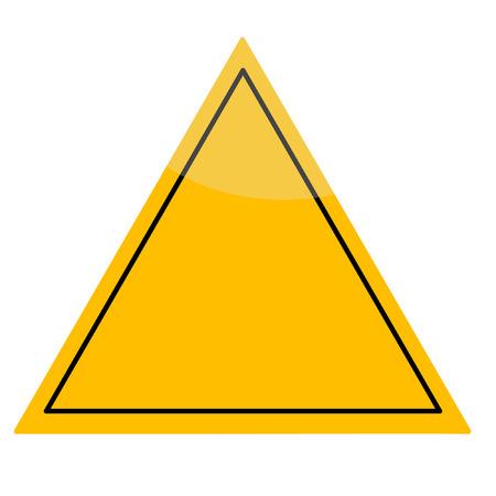 yellow traingular shaped traffic sign Vectores