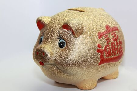 golden piggy bank photo