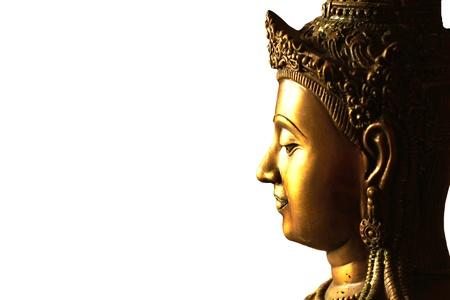 cabeza de buda: una dorada estatua de Buda en Tailandia. Son de dominio p�blico o tesoro del budismo, no limita en copiar o utilizar.