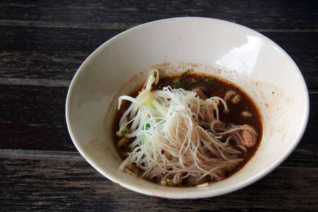 Thai style boat noodle from Ayutthaya Stock Photo - 10747515